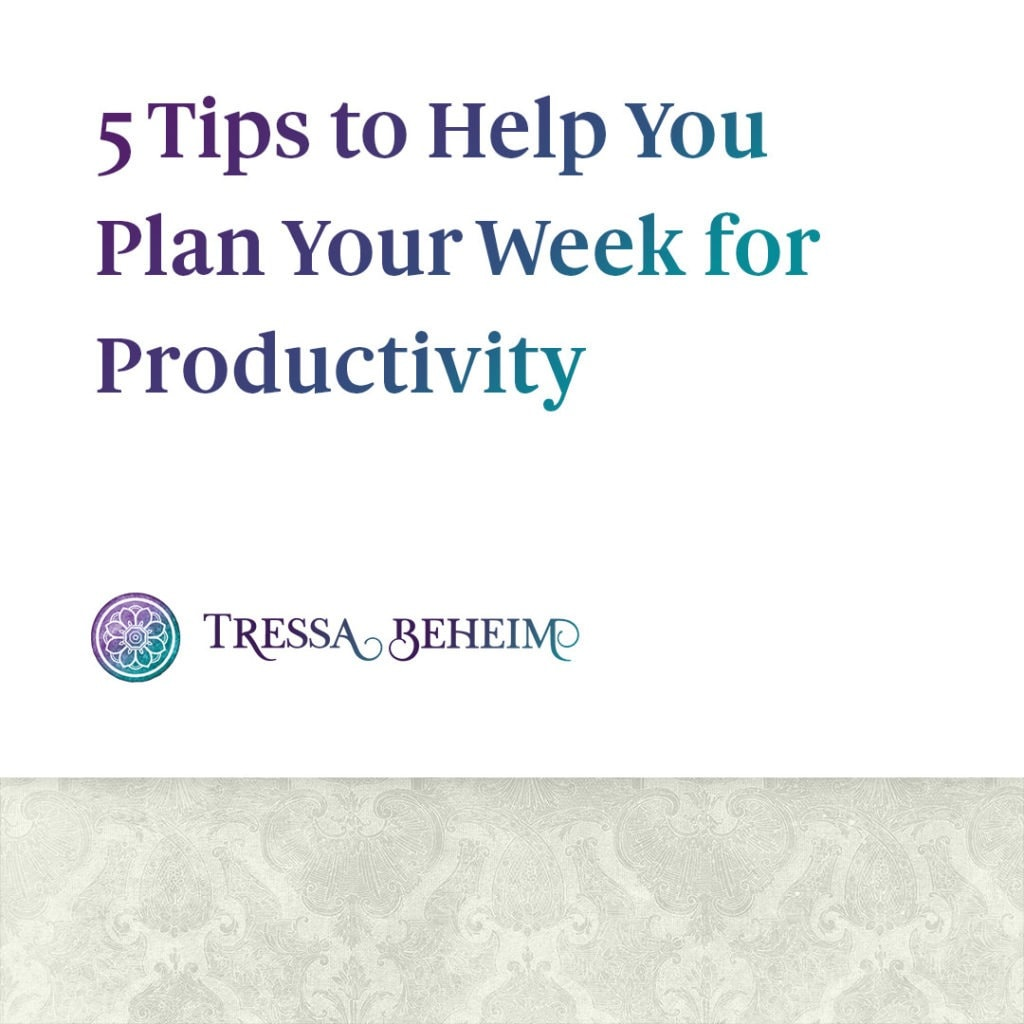 As your business grows, figuring out how to plan your week becomes even more important. Here are some tips to get you started.