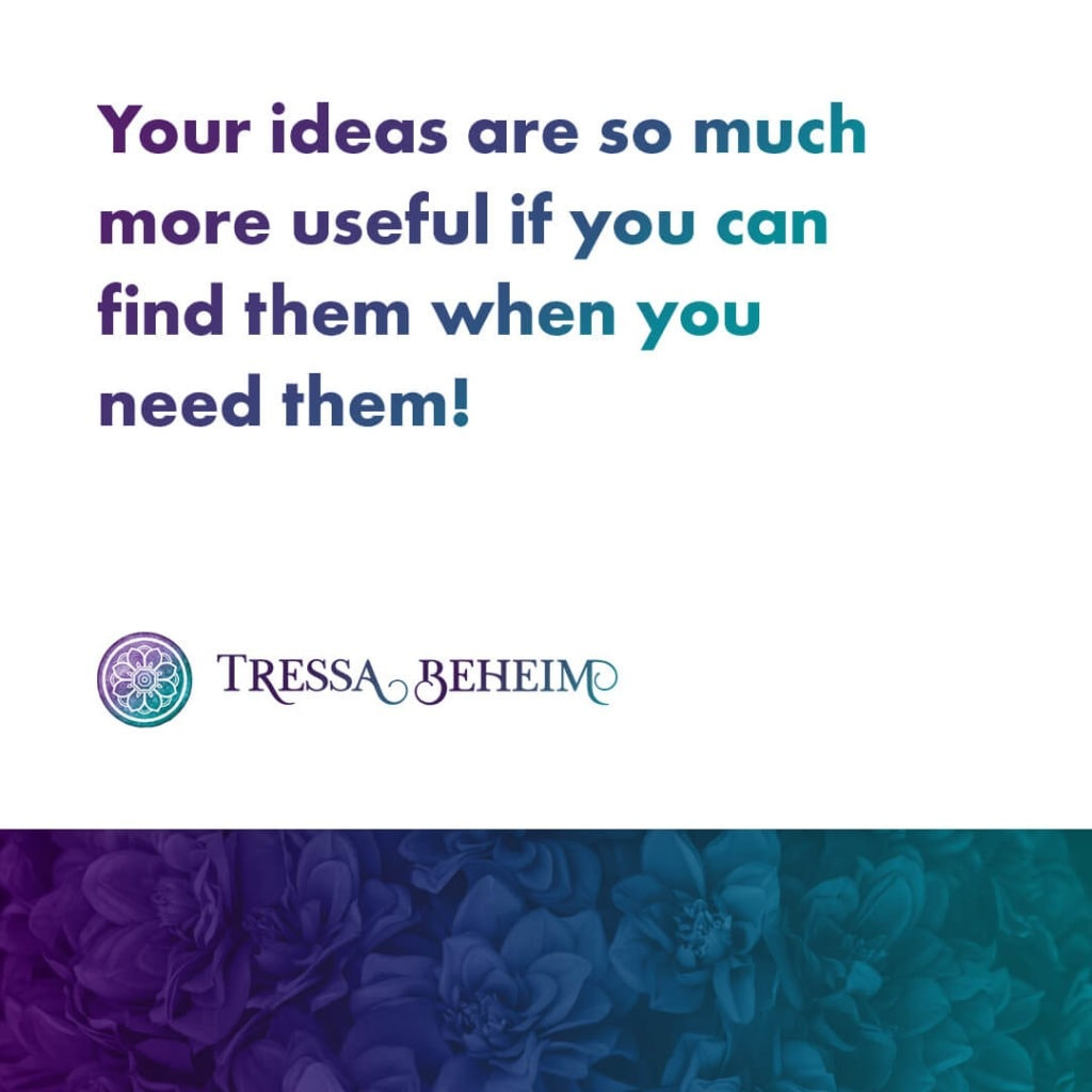 Learning how to keep track of ideas when it seems like inspirations strikes at any time can seem complicated. Here are a few tips to get you started.