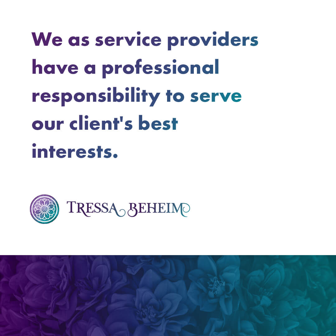 When you're a service provider, oftentimes questions come up about our professional responsibility to our clients. Here's what you need to know.